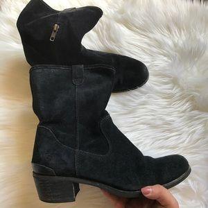 Ugg suede black booties